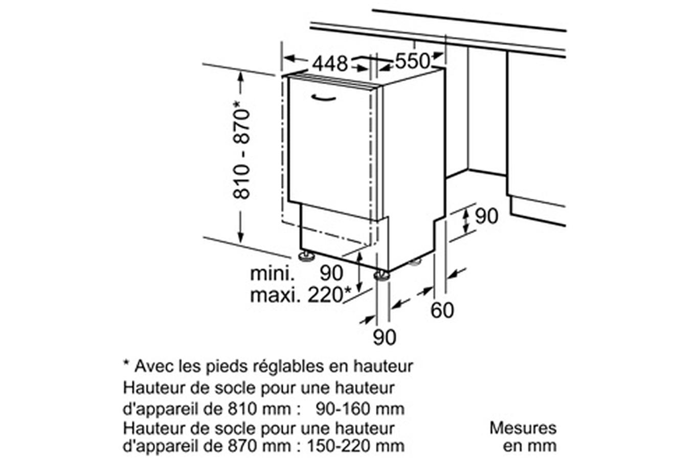 Hauteur evacuation lave vaisselle hauteur evacuation - Hauteur evacuation lave linge ...
