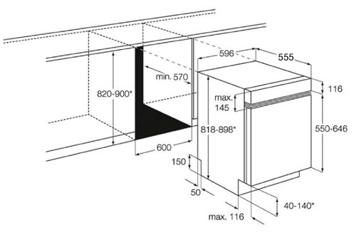 lave vaisselle encastrable electrolux esi64041x inox esi64041x 3452077. Black Bedroom Furniture Sets. Home Design Ideas
