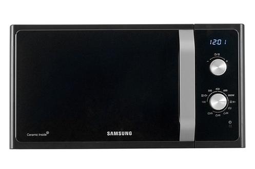 Compact et simple d'utilisation ! Compact, ce micro ondes trouvera sa place dans votre cuisine. Le gril permet un dorage rapide et efficace des aliments. Il possède un minuteur de 60 minutes et 6 niveaux de puissance. L' écran électronique du micro-ondes