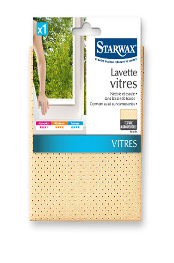 accessoires de m nage starwax lavette microfibre vitres 4147200 darty. Black Bedroom Furniture Sets. Home Design Ideas