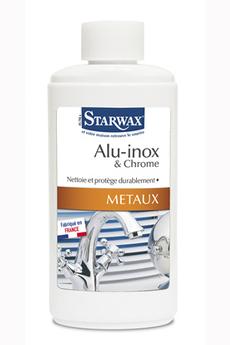 Produits d'entretien mobilier et surfaces délicates NETTOYANT ALU / INOX / CHROME 250ML Starwax