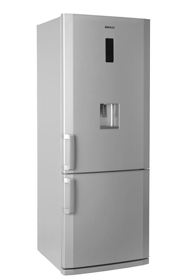 refrigerateur congelateur en bas beko cn142221ds silver. Black Bedroom Furniture Sets. Home Design Ideas
