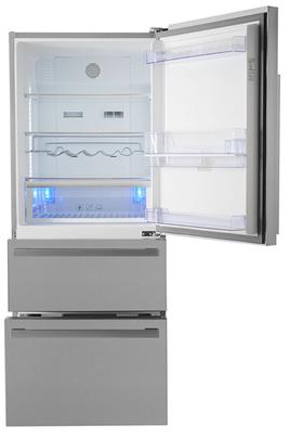 refrigerateur congelateur en bas beko cn151720dx 3747255. Black Bedroom Furniture Sets. Home Design Ideas