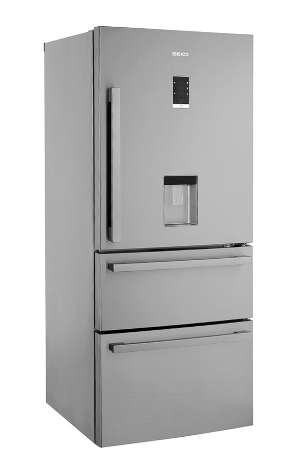 refrigerateur congelateur en bas beko cn151720dx 3747255. Black Bedroom Furniture Sets. Home Design Ideas