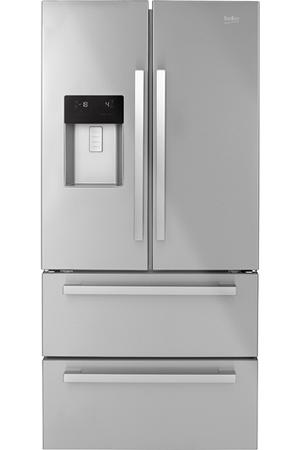 R frig rateur multi portes beko gne60530dx darty for Refrigerateur beko noir miroir