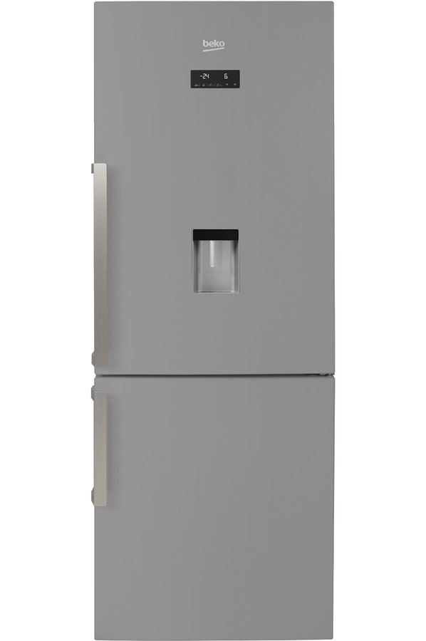 refrigerateur congelateur en bas beko rcne520e31ds silver. Black Bedroom Furniture Sets. Home Design Ideas