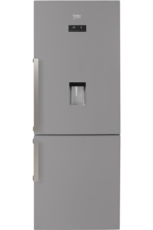refrigerateur congelateur en bas beko rcne520e31ds silver darty. Black Bedroom Furniture Sets. Home Design Ideas