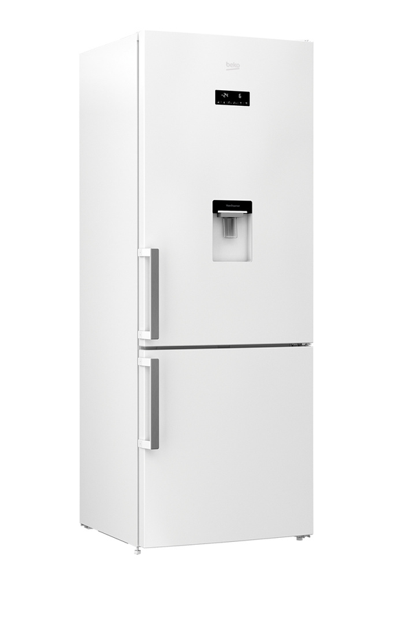 refrigerateur congelateur en bas beko rcne520e31dw. Black Bedroom Furniture Sets. Home Design Ideas