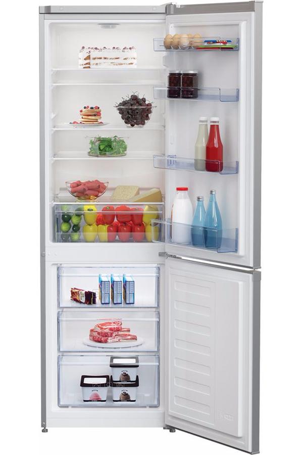 refrigerateur congelateur en bas beko rcsa270k20s silver 4296052 darty. Black Bedroom Furniture Sets. Home Design Ideas