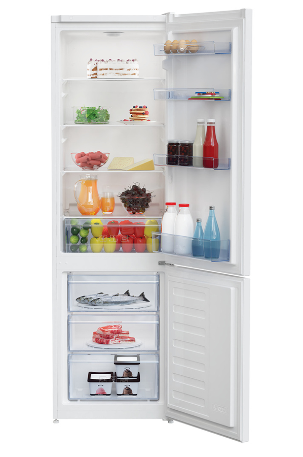 refrigerateur congelateur en bas beko rcsa300k20w 4323726. Black Bedroom Furniture Sets. Home Design Ideas