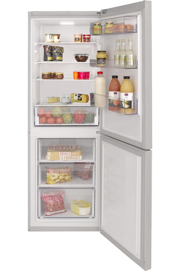 refrigerateur congelateur en bas beko rcsa34s silver. Black Bedroom Furniture Sets. Home Design Ideas