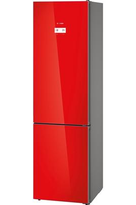 Volume 366 L - Dimensions HxLxP : 203x60x66 cm - A++ Réfrigérateur à froid ventilé 279 L Congélateur à froid ventilé 87 L Portes en verres rouge