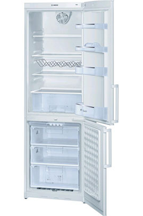 refrigerateur congelateur en bas bosch kgv 36x14ff blanc. Black Bedroom Furniture Sets. Home Design Ideas