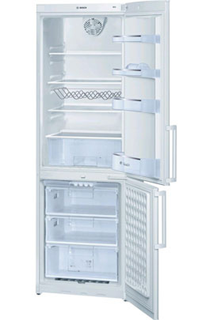 refrigerateur congelateur en bas bosch kgv 36x14ff blanc darty. Black Bedroom Furniture Sets. Home Design Ideas
