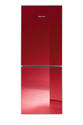 Volume 189 L - Dimensions HxLxP : 155x57.5x56.5 cm - A+ Réfrigérateur à froid statique 134 L Congélateur à froid statique 55 L Finition miroir rouge