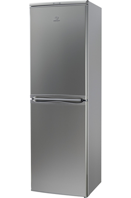 refrigerateur congelateur en bas indesit caa55nfsm silver 4009819. Black Bedroom Furniture Sets. Home Design Ideas
