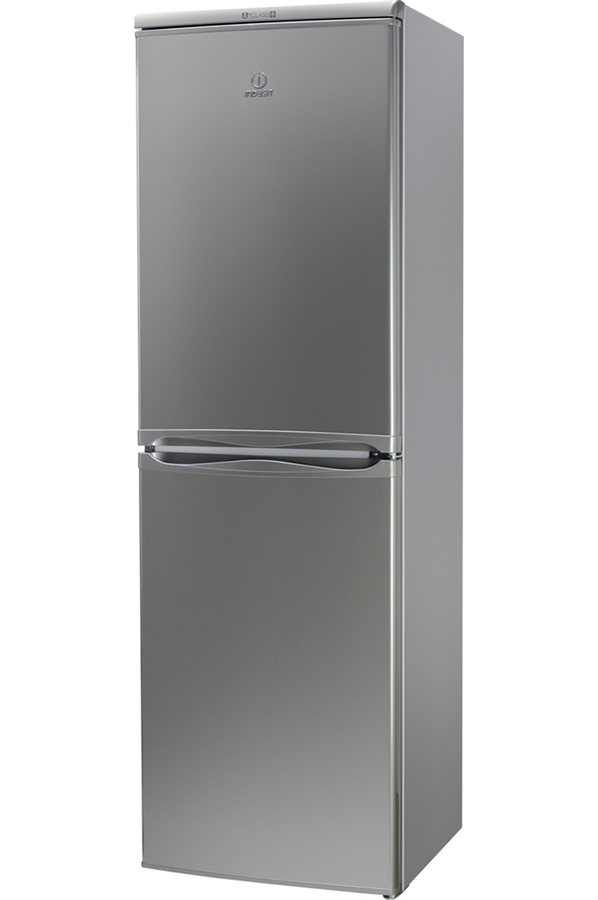 refrigerateur congelateur en bas indesit caa55nfsm silver. Black Bedroom Furniture Sets. Home Design Ideas