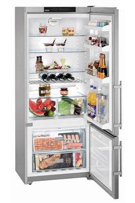 Réfrigérateur congélateur bas inox