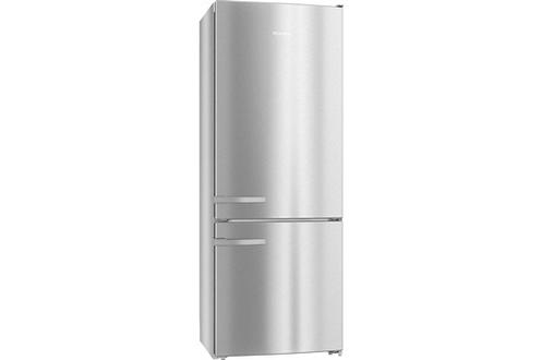 Volume 418 L - Dimensions HxLxP : 202 x 75 x 63 Réfrigérateur à froid brassé 303 L Congélateur à froid ventilé 115 L - Classe A++ Poignées à levier EasyOpen