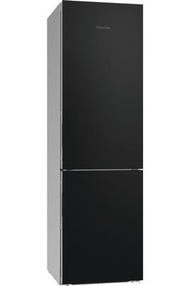Volume 343 L - Dimensions HxLxP : 201.1x60x67.5 cm - A+++ Réfrigérateur à froid brassé 242 L Congélateur à froid ventilé 101 L Poignées intégrées à dépression - Portes en verre noir