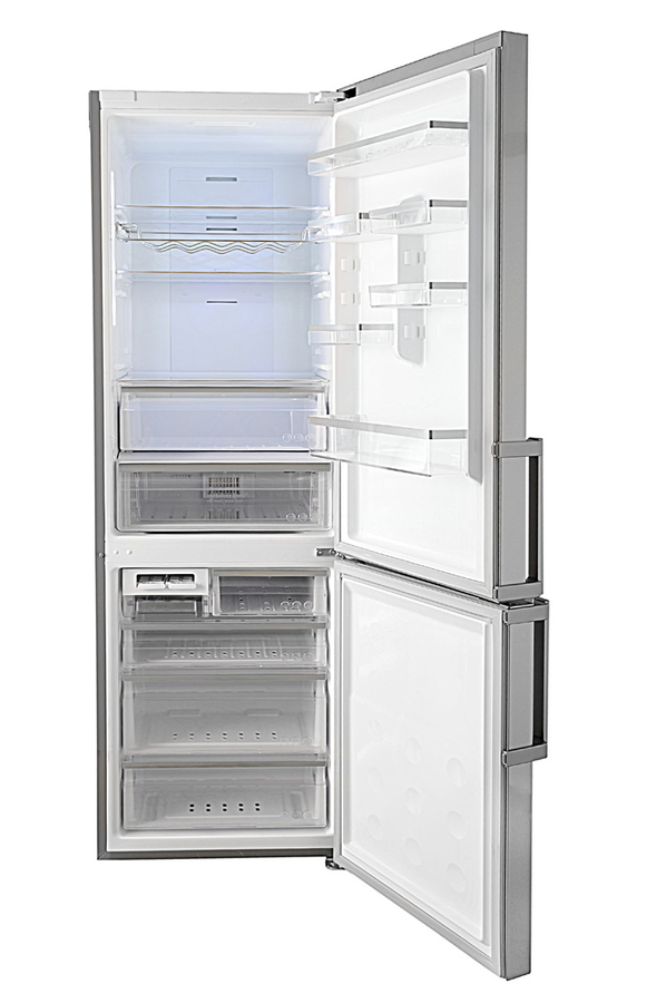refrigerateur congelateur en bas samsung rl60gqers inox. Black Bedroom Furniture Sets. Home Design Ideas