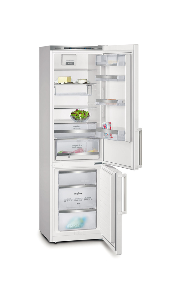 refrigerateur congelateur en bas siemens kg39eaw40 blanc 3483622 darty. Black Bedroom Furniture Sets. Home Design Ideas