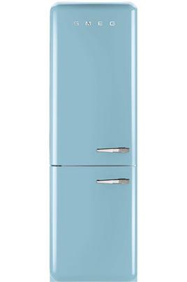 Volume 304 L - Dimensions HxLxP : 192.6x60x72 cm - A++ Réfrigérateur à froid brassé 229 L Congélateur à froid ventilé 75 L Design rétro années 50 - Charnières à gauche