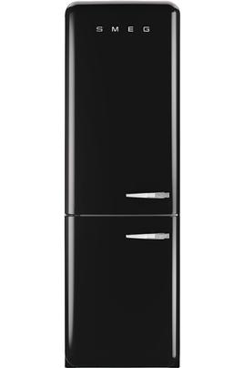 """Volume 304 L - Dimensions HxLxP : 192.6x60x72 cm - A++ Réfrigérateur à froid brassé 229 L Congélateur à froid ventilé 75 L Style Rétro """"Années 50"""" - Classe A++ - Charnières à gauche"""
