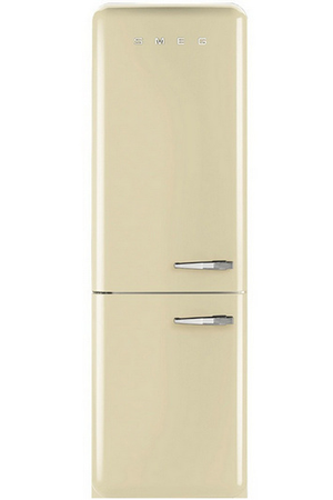 refrigerateur congelateur en bas smeg fab32lpn1 creme. Black Bedroom Furniture Sets. Home Design Ideas