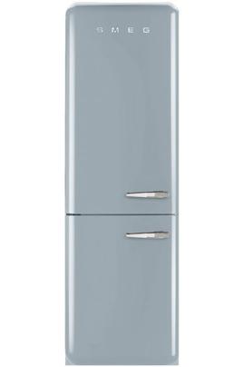 Volume 304 L - Dimensions HxLxP : 192.5x60x72 cm - A++ Réfrigérateur à froid brassé 229 L Congélateur à froid ventilé 75 L Design rétro années 50 - Charnières à gauche