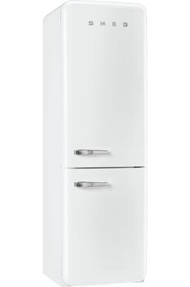 """Volume 304 L - Dimensions HxLxP : 192.6x60x72 cm - A++ Réfrigérateur à froid brassé 229 L Congélateur à froid ventilé 75 L Design """"Style années 50"""""""