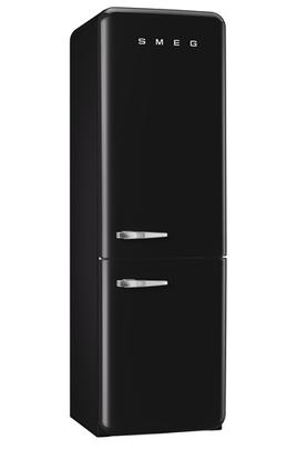 """Volume 304 L - Dimensions HxLxP : 192.6x60x72 cm Réfrigérateur à froid brassé 229 L Congélateur à froid ventilé 75 L Style rétro """"Années 50"""" - Charnières à droite"""