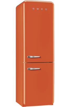 Volume 304 L - Dimensions (HxLxP) : 192x60x72 cm - Classe A++ Réfrigérateur à froid brassé 229 L Congélateur à froid ventilé 75 L Design rétro années 50 - Charnières à droite