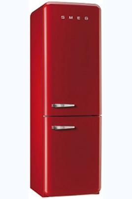 """Réfrigérateur : 229 L - Congélateur : 75 L - Total : 308 L Réfrigérateur : froid brassé - Congélateur : froid ventilé Dimensions (HxLxP) : 192.5x60x72 cm - Classe A++ Design rétro """"Années 50"""" - Charnières à droite"""