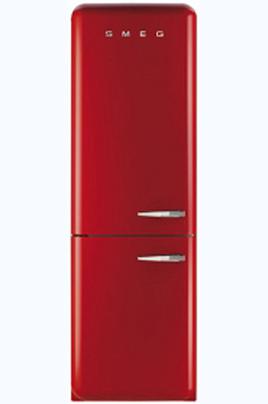 """Volume 304 L - Dimensions HxLxP : 192.6x60x72 cm Réfrigérateur à froid brassé 229 L Congélateur à froid ventilé 75 L Style rétro """"Années 50"""""""