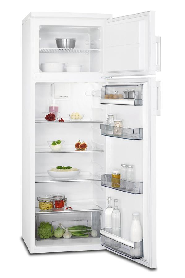 refrigerateur congelateur en haut aeg rdb52711dw 4304411. Black Bedroom Furniture Sets. Home Design Ideas