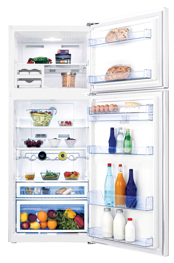 refrigerateur congelateur en haut beko dn156720d 4119592. Black Bedroom Furniture Sets. Home Design Ideas