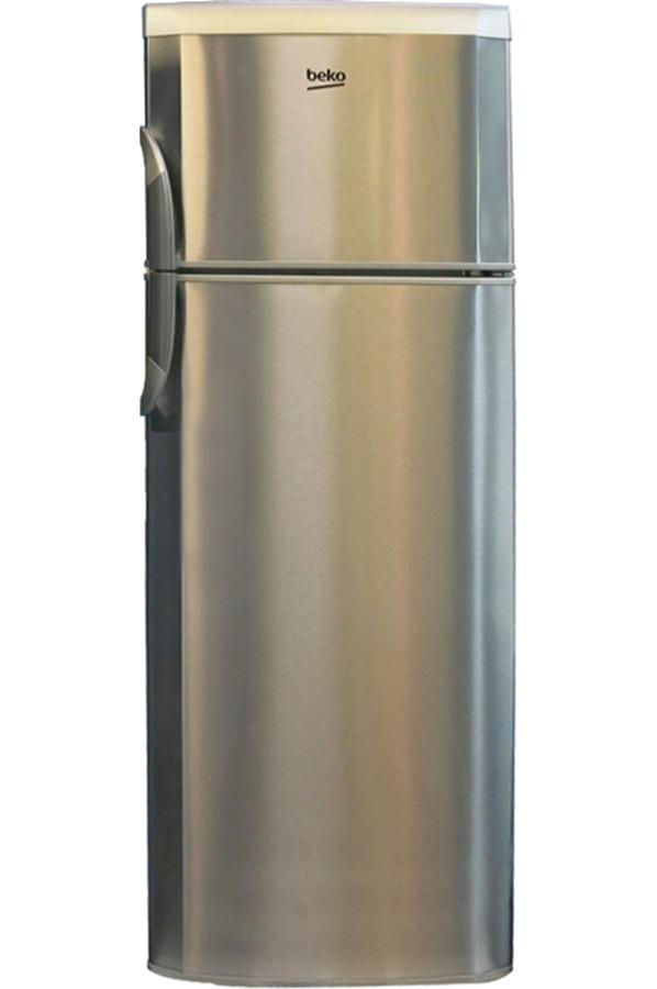 refrigerateur congelateur en haut beko dsa25021x 4112415. Black Bedroom Furniture Sets. Home Design Ideas