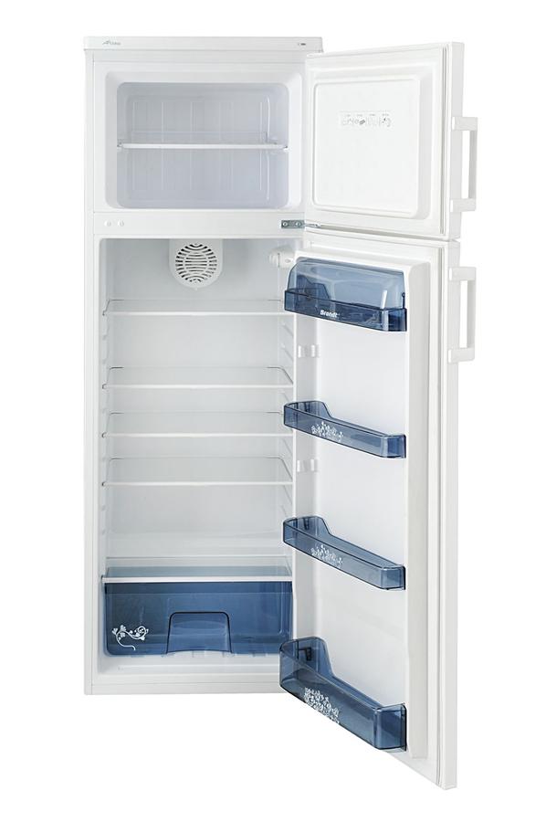 refrigerateur congelateur en haut brandt bfd1252bw. Black Bedroom Furniture Sets. Home Design Ideas