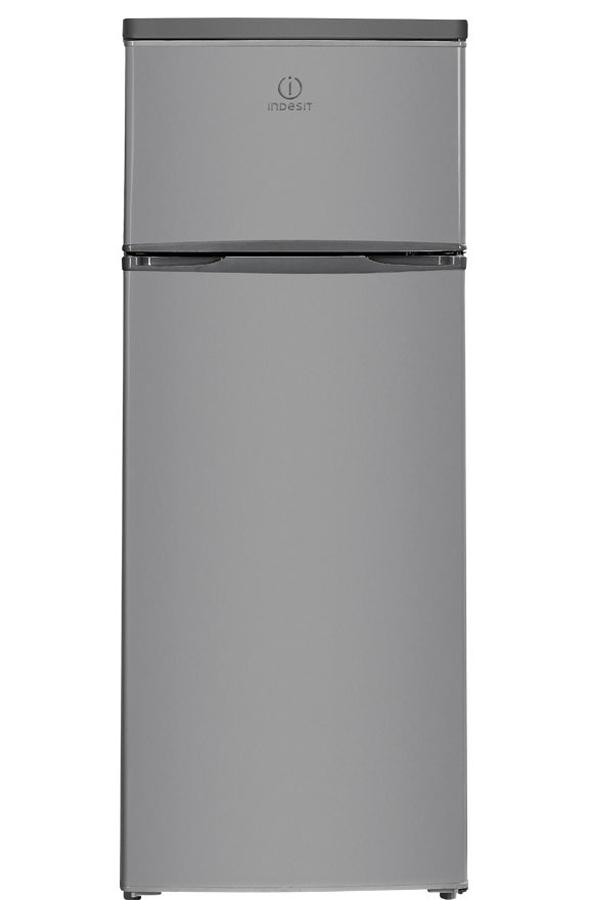 refrigerateur congelateur en haut indesit raa 28 s silver. Black Bedroom Furniture Sets. Home Design Ideas