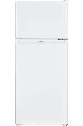Volume 138 L - Dimensions HxLxP : 116x48x50 cm - A+ Réfrigérateur à froid statique 103 L Congélateur à froid statique 35 L 2 clayettes en verre - bac à légumes