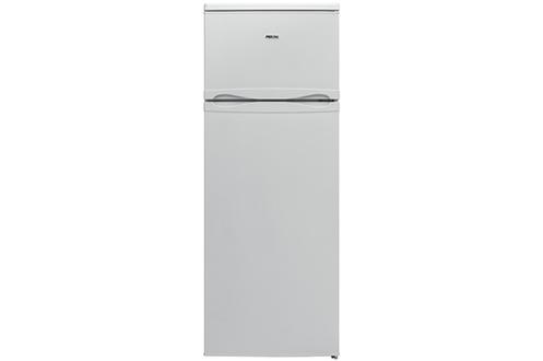 Volume 213 L - Dimensions HxLxP : 144x54x57.5 cm - A+ Réfrigérateur à froid statique 171 L Congélateur à froid statique 42 L Faible encombrement - Classe A+