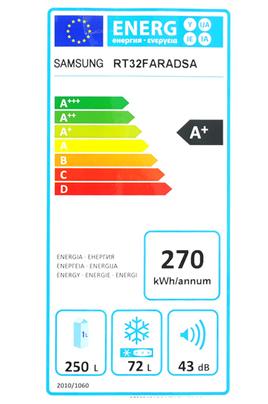 Refrigerateur congelateur en haut Samsung RT32FARADSA SILVER