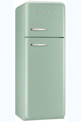 Volume 293 L - Dimensions HxLxP : 168,8x60x72 cm - A++ Réfrigérateur à froid brassé 229 L Congélateur à froid statique 64 L Design rétro années 50 - Charnières à droite