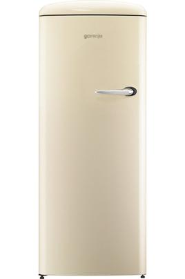 Volume 254 L - Dimensions (HxLxP) : 154 x 60 x 64 cm - A+++ Réfrigérateur à froid brassé 229 L Compartiment congélateur 25 L Réfrigérateur vintage - Charnières gauche