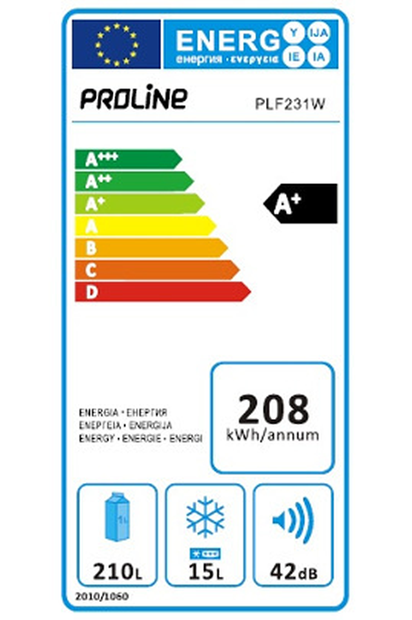 Refrigerateur Armoire Proline Plf231w Darty