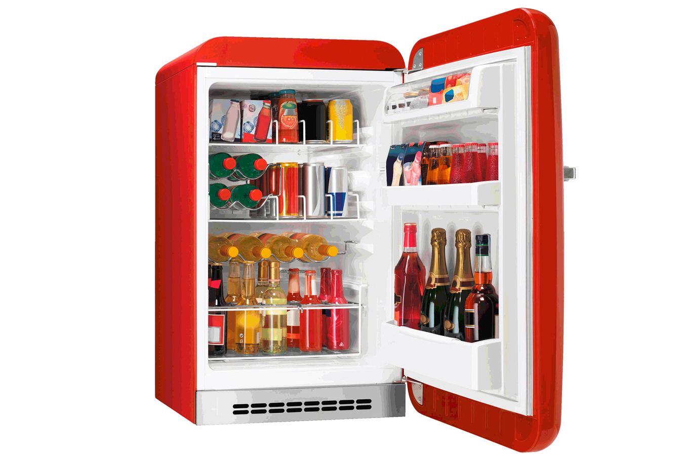Refrigerateur bar smeg fab10hrr fab10hrr 3521435 darty - Frigo de bar ...
