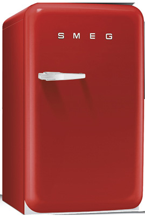 Refrigerateur bar smeg fab10hrr fab10hrr 3521435 darty for Mini frigo design