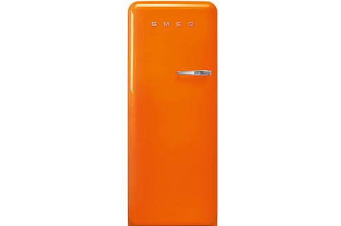 Volume 270 Litres - Dimensions HxLxP : 153x60x72.8 cm - A +++ Réfrigérateur à froid ventilé - 244 Litres Congélateur à froid statique - 26 Litres Design rétro année 50 - Charnière Gauche