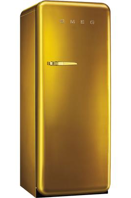 Volume 248 L - Dimensions HxLxP : 151x60x68.2 cm - A++ Réfrigérateur à froid brassé 222 litres Congélateur à froid statique 26 litres Design rétro années 50 - Charnières à droite